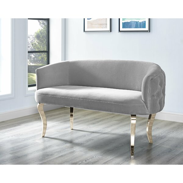 Sachin Gray Velvet Loveseat by Willa Arlo Interiors