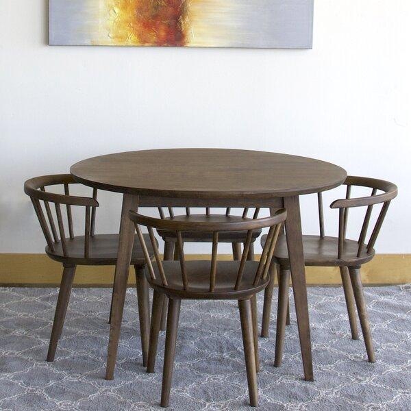 Datto Mabel 5 Piece Solid Wood Dining Set by Corrigan Studio Corrigan Studio