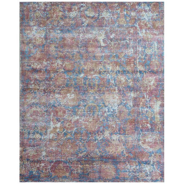 Reflections Hand-Woven Red/Blue Area Rug by Exquisite Rugs