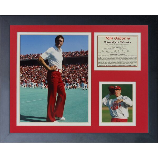 Tom Osborne Framed Memorabilia by Legends Never Die