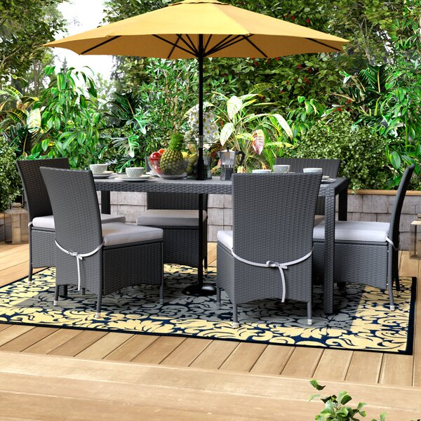 Sarver 7 Piece Dining Set with Cushion by Ivy Bronx