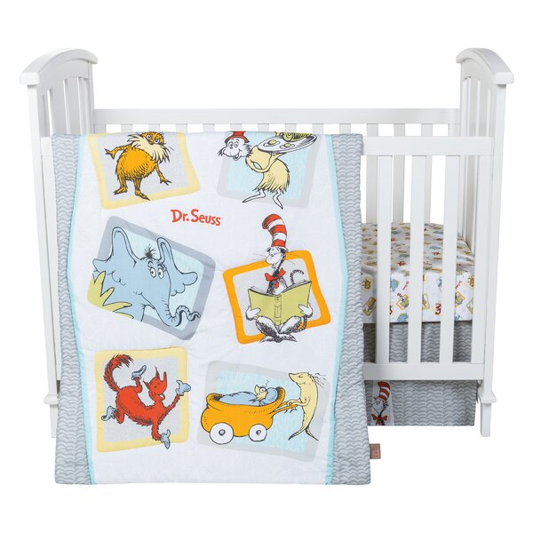 Dr. Seuss Friends 5 Piece Crib Bedding Set by Tren