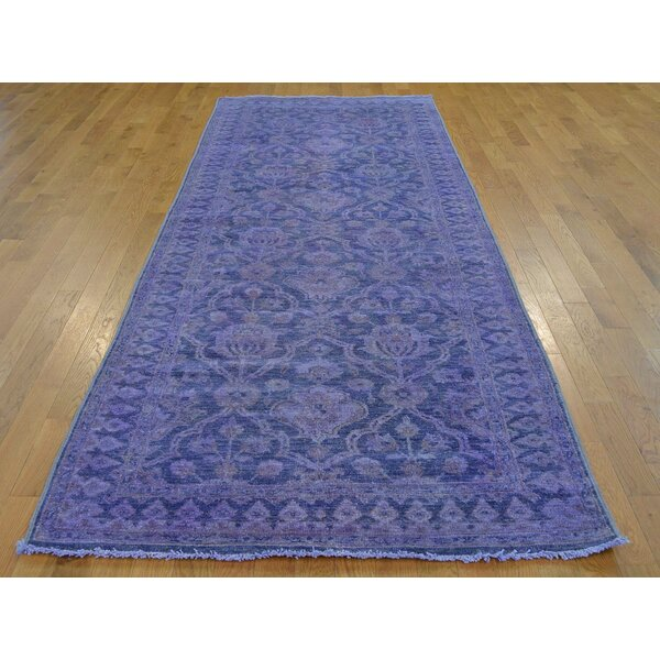 One-of-a-Kind Beaumont Overdyed Handwoven Purple Wool Area Rug by Isabelline