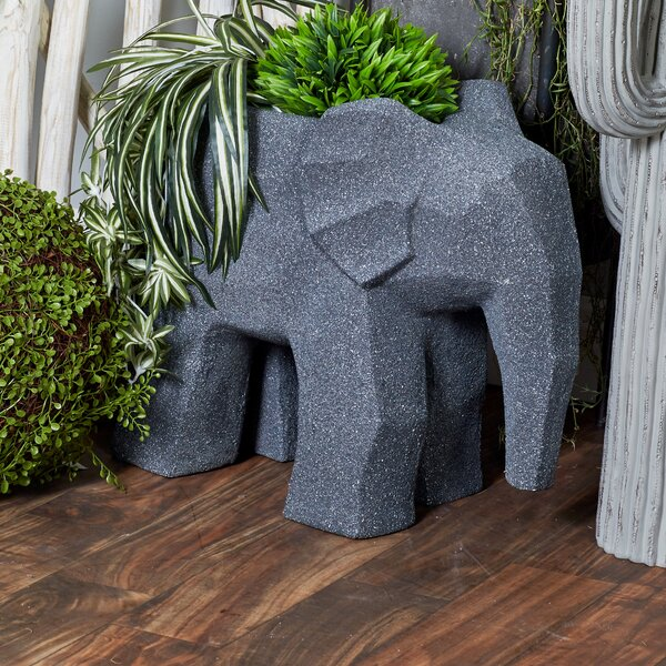 Contemporary Elephant Statue Planter by Cole & Grey