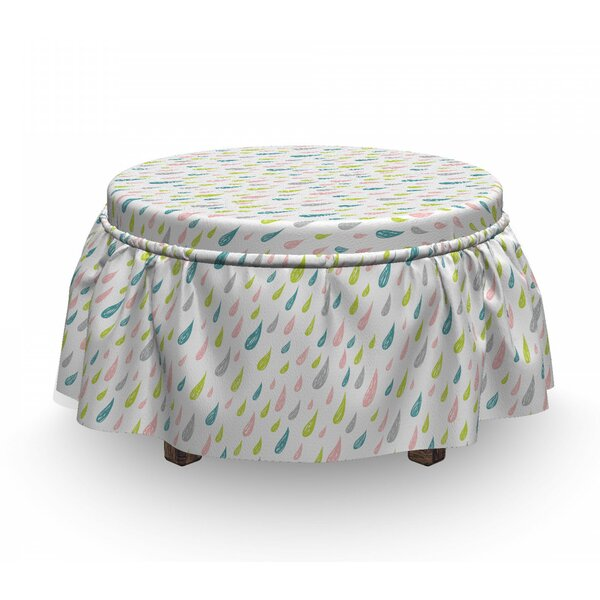 Scribbled Droplet Ottoman Slipcover (Set Of 2) By East Urban Home