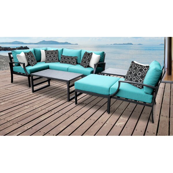 Benner 8 Piece Sectional Seating Group with Cushions by Ivy Bronx