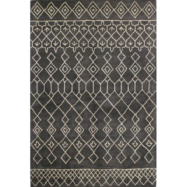 Laflin Charcoal Rug by Wade Logan