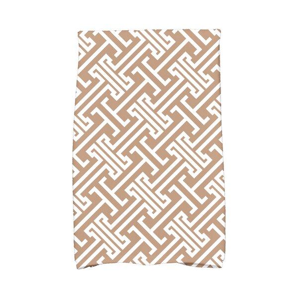 Hancock Leeward Key Geometric Print Hand Towel by Breakwater Bay