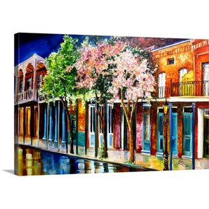 'New Orleans Spring' by Diane Millsap Painting Print on Canvas by Canvas On Demand