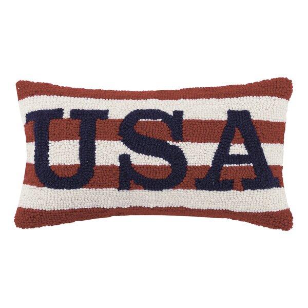 USA Wool Lumbar Pillow by Peking Handicraft