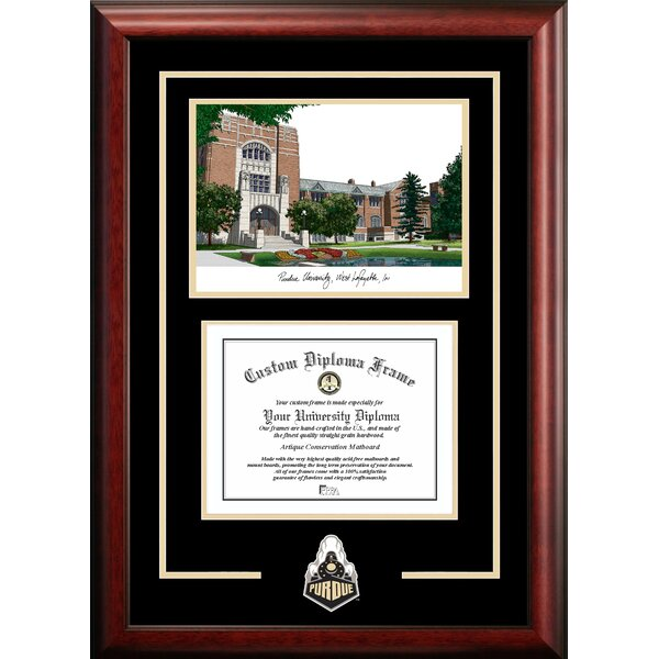 NCAA Purdue University Spirit Graduate Diploma Picture Frame by Campus Images