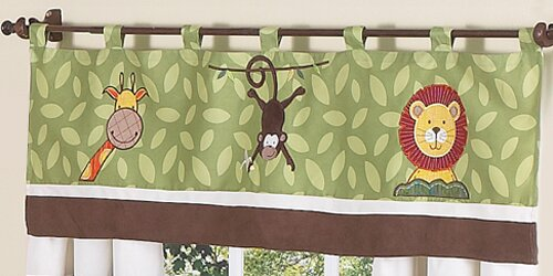 Jungle Time 54 Curtain Valance by Sweet Jojo Designs