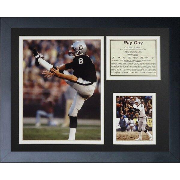 Ray Guy Framed Memorabilia by Legends Never Die