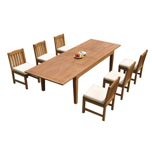 SantaBarbara 7 Piece Teak Dining Set by Rosecliff Heights