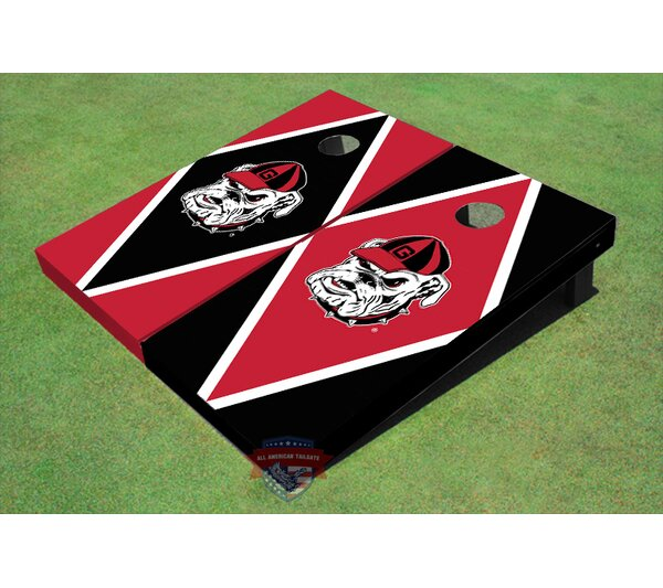 NCAA Hairy Dawg Diamond Cornhole Board (Set of 2) by All American Tailgate