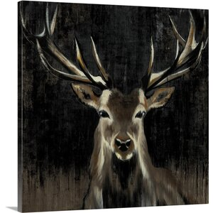 'Young Buck' by Liz Jardine Painting Print on Canvas by Canvas On Demand