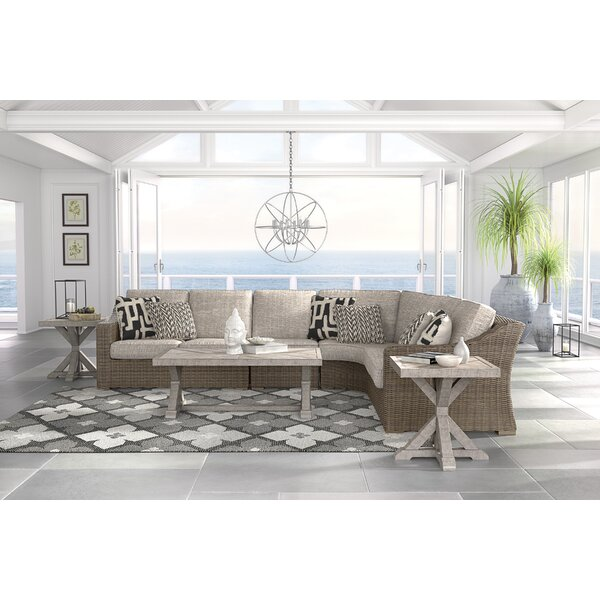 Gilchrist Sectional Seating Group with Cushions by Rosecliff Heights