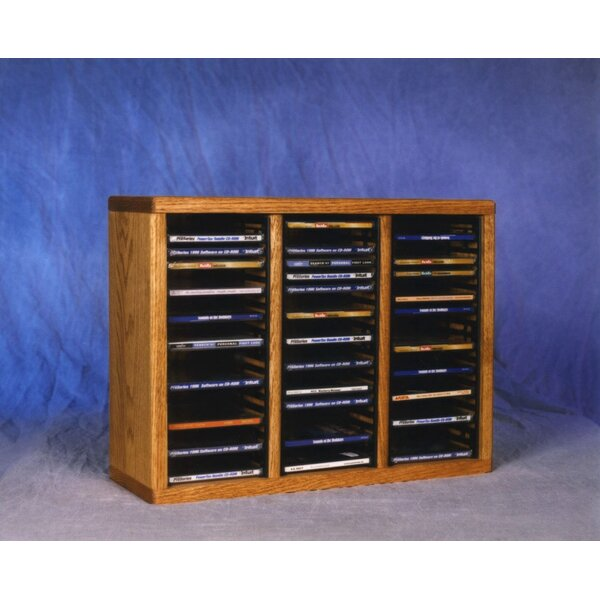 300 Series 60 CD Multimedia Tabletop Storage Rack by Wood Shed
