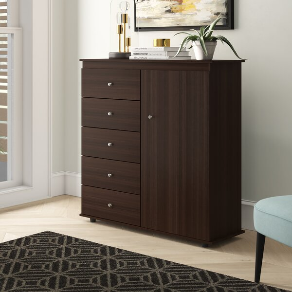 Bonifacio 5 Drawer Combo Dresser by Latitude Run