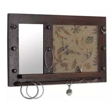 Mcray Heritage in Brown Wood Accent Mirror by Bloomsbury Market