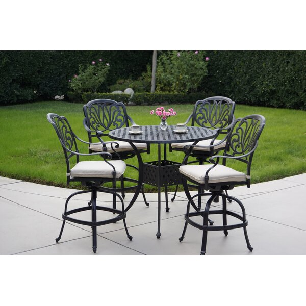 Keyes 5 Piece Dining Set with Cushions by Darby Home Co