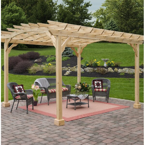Cedar 12 Ft. W x 10 Ft. D Solid Wood Pergola by YardCraft