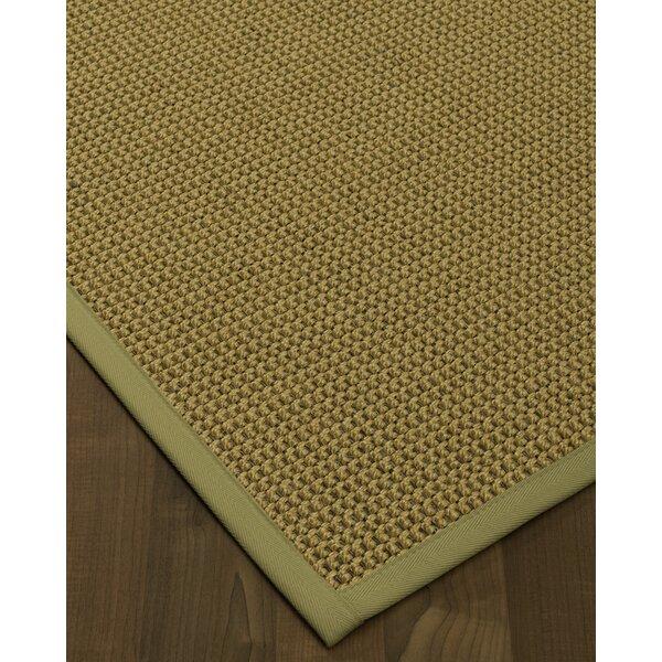 Atia Border Handmade Flatweave Wool Beige/Sand Area Rug