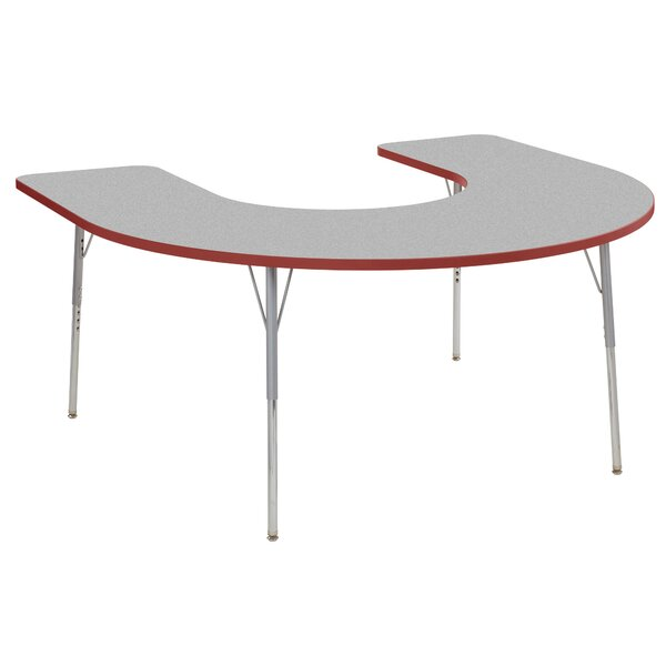 Horseshoe Contour Thermo-Fused Adjustable 60 x 66 Horseshoe Activity Table by ECR4kids