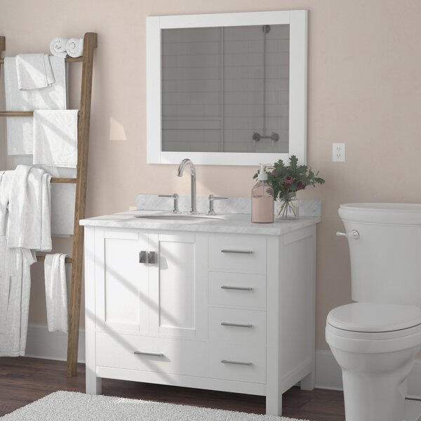 Werth 36 Single Bathroom Vanity Set with Mirror by Brayden Studio