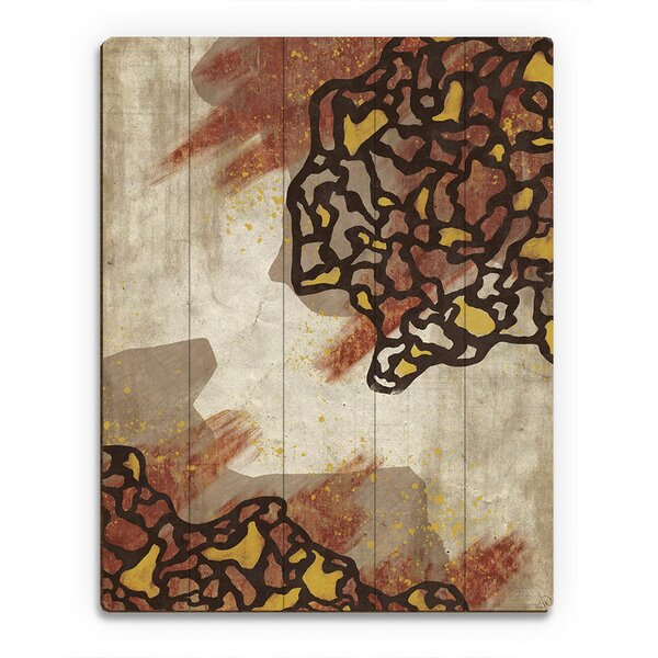 Coagulation Separation Brown Painting Print on Plaque by Click Wall Art