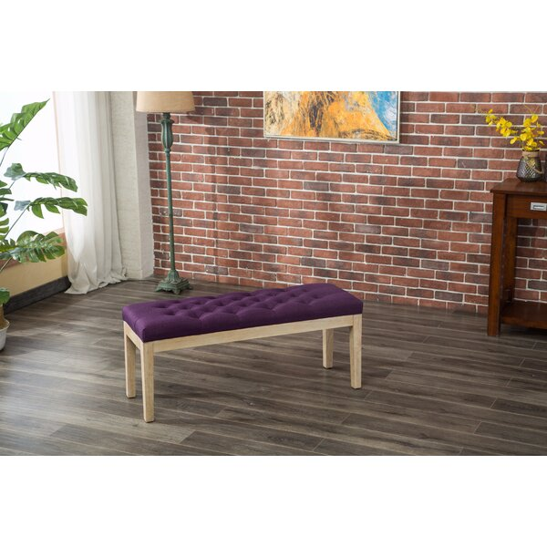 Hillcroft Wood Bench by Bungalow Rose Bungalow Rose