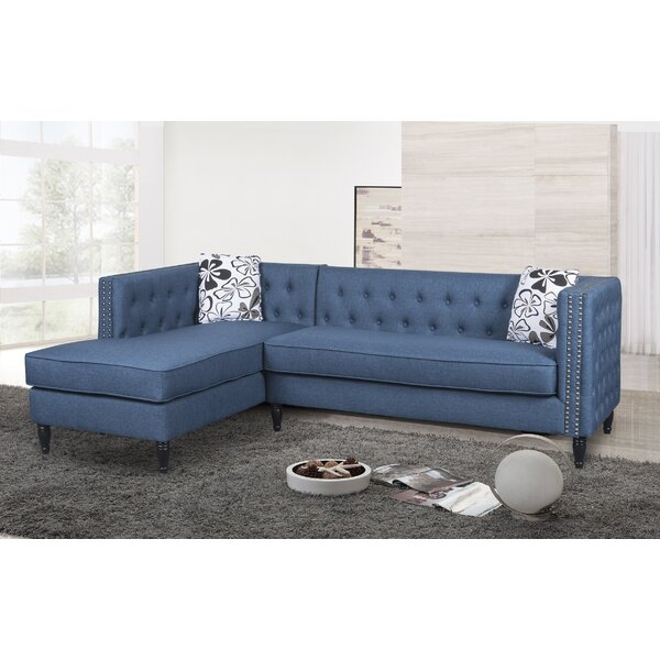 Gosford Tufted and Naihead Sectional by Rosdorf Park