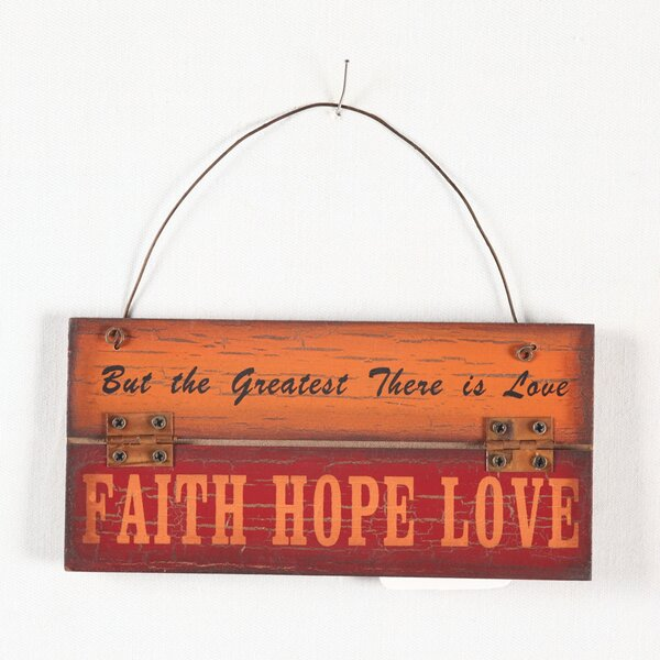 Faith Hope Love Wood Wall Décor by Attraction Design Home