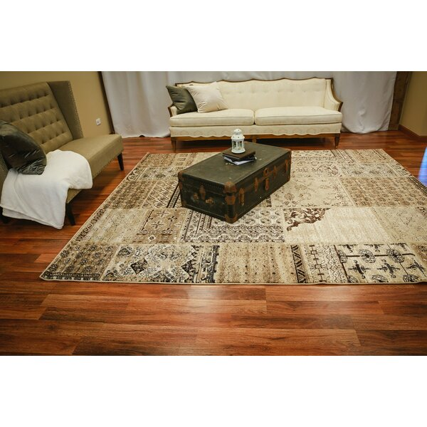 Great Falls Patchwork Cream Area Rug by Fleur De Lis Living