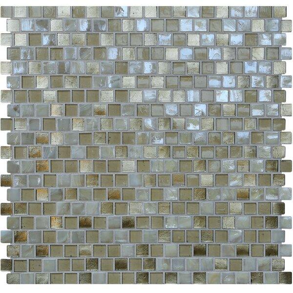Opal 0.63 x 0.63 Glass Mosaic Tile in Metallic Sand by Kellani