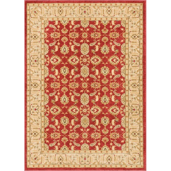 Allerdale Red/Cream Area Rug by Astoria Grand