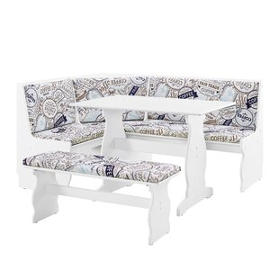 Olivia Nook 3 Piece Dining Set  sc 1 st  Wayfair : white dining table and bench set - pezcame.com