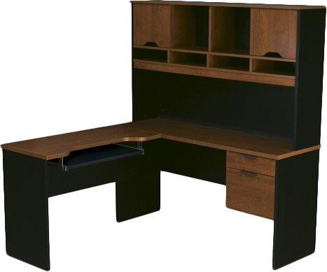 Innova L-Shape Computer Desk with Hutch by Bestar