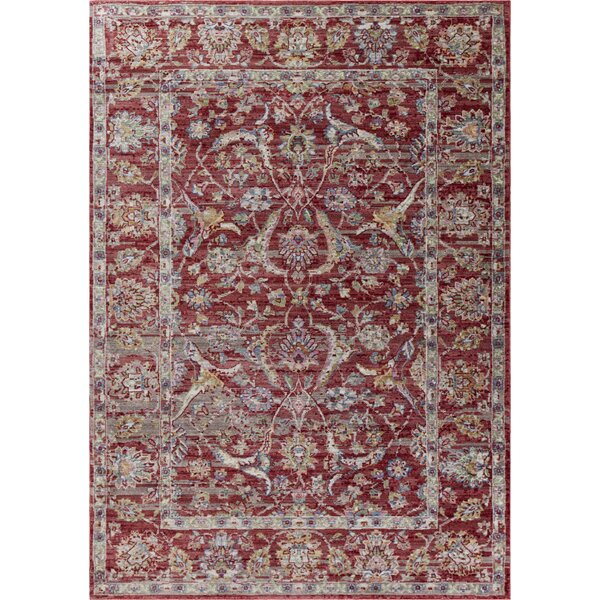 Vermillion Red Area Rug by Charlton Home