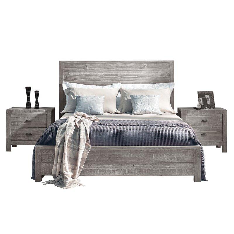 Driftwood Montauk Panel Bed King