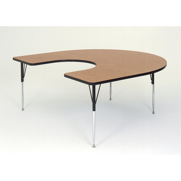 66 x 60 Horseshoe Activity Table by Correll, Inc.