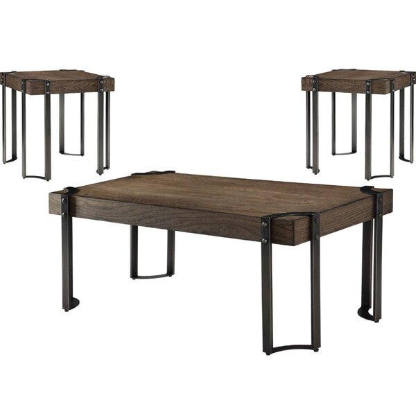 Alijah 3 Piece Coffee Table Set by 17 Stories