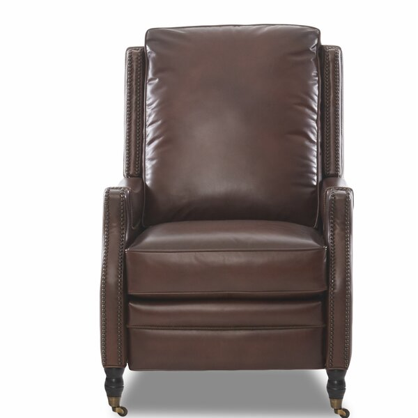 Bason High Leg Leather Power Recliner by Canora Grey