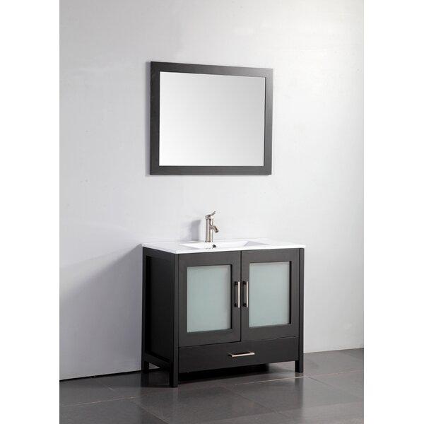 Larosa 36 Single Sink Bathroom Vanity Set with Mirror by Latitude RunLarosa 36 Single Sink Bathroom Vanity Set with Mirror by Latitude Run