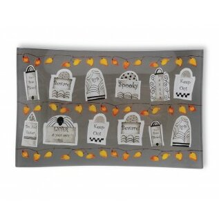 Tombstones 8.5 Rectangle Plate (Set of 2) by Boston International