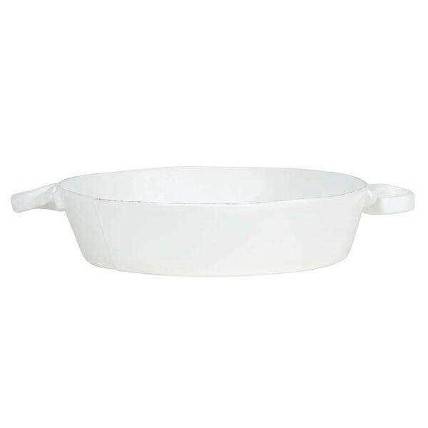Lastra Handled Round Baking Dish by VIETRI
