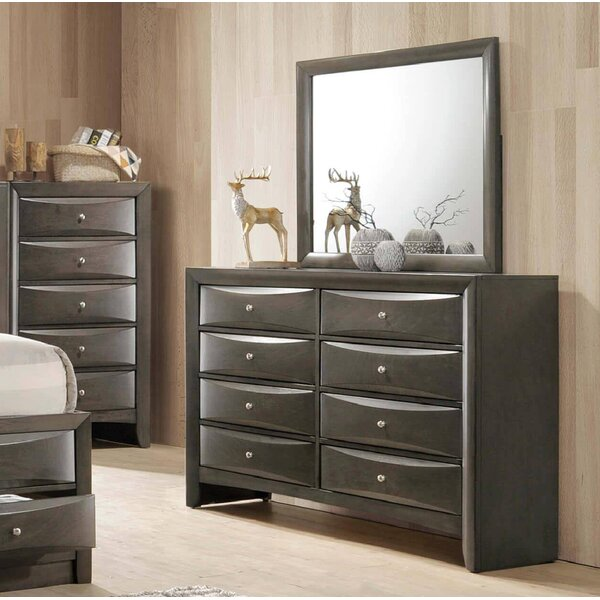 Orleans 8 Drawer Double Dresser with Mirror by Red Barrel Studio