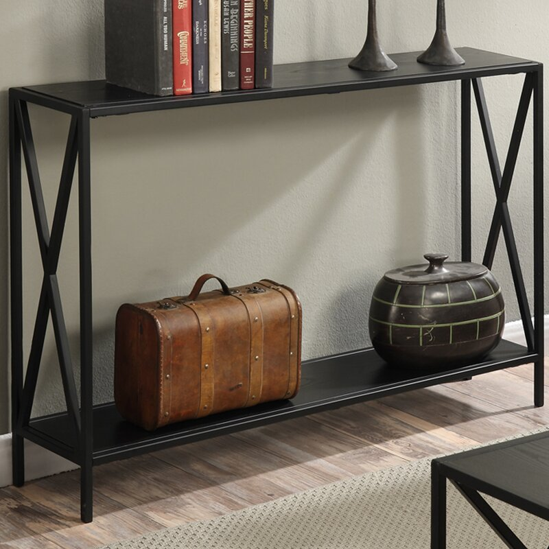 Furniture Small Console Table With Shelf Couch Table 5 Foot Long Andover  Mills Abbottsmoor Metal Frame