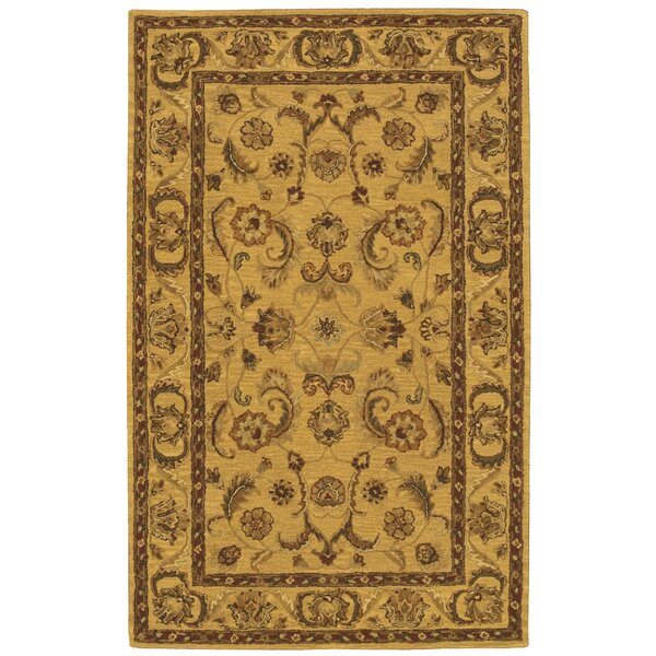 Cortese Gold/Brown Area Rug by Charlton Home