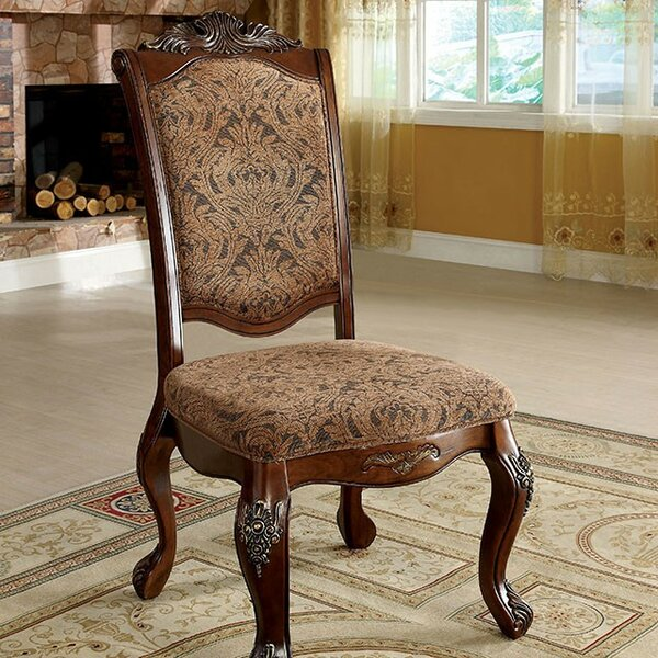 Nero Upholstered Side Chair In Antique Cherry/Brown (Set Of 2) By Astoria Grand